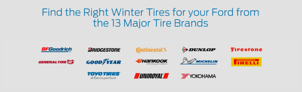 Click to find the right winter tires for your Ford